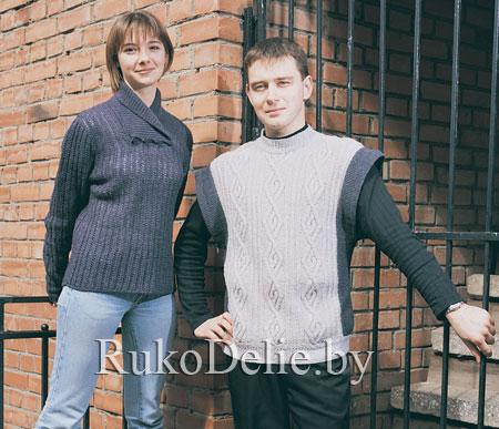 вязание мужские полу веры жилеты свитера.