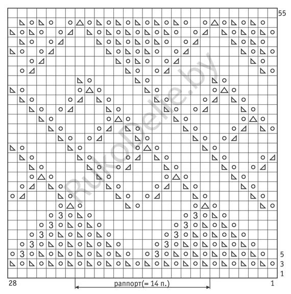 вязание на спицах ажурные узоры описание схемы: