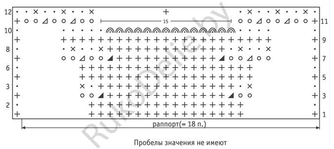 Вязание спицами узор веера схемы 77