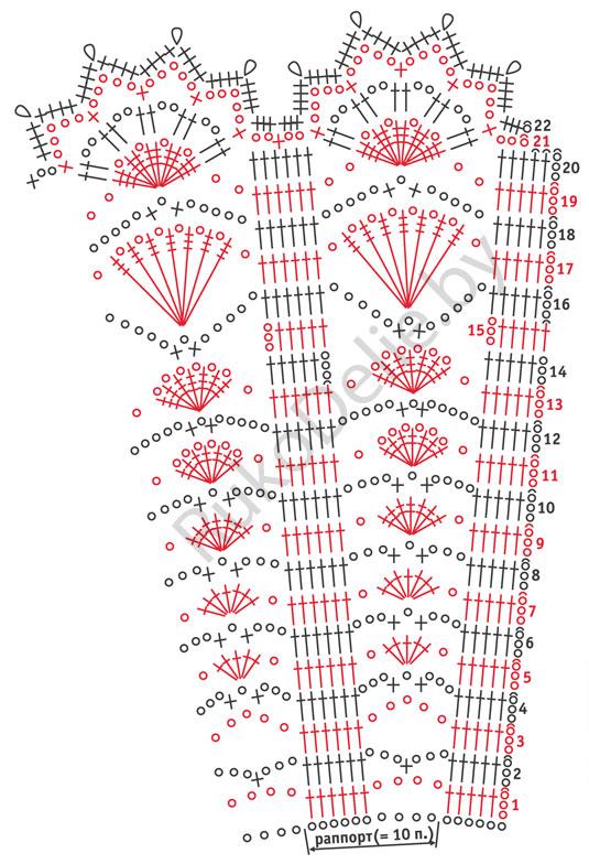 Вязание крючком с расширением полотна 97