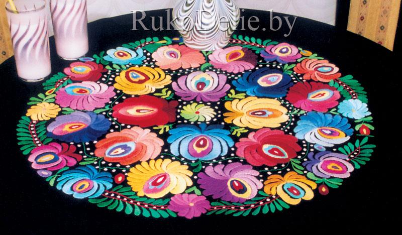 фото венгерской вышивки с цветами крупнее