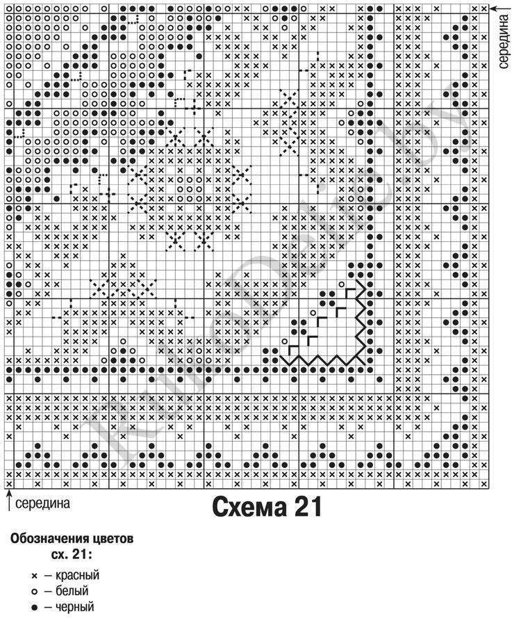 Вышивка крестом наволочки схемы 32