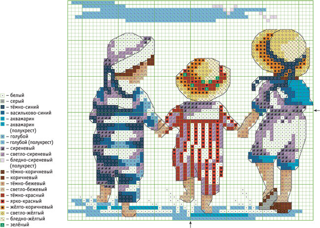 Схемы на вышивку крестом детская тематика