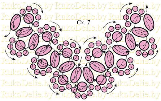 схема плетения жемчужного