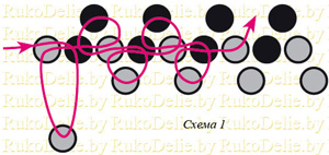 схема плетения колье из бусин