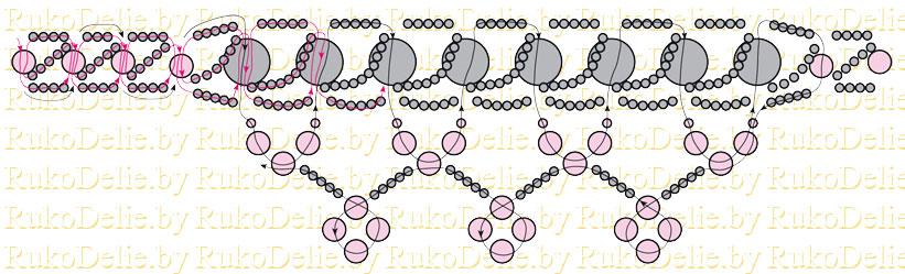 [схема плетения колье из