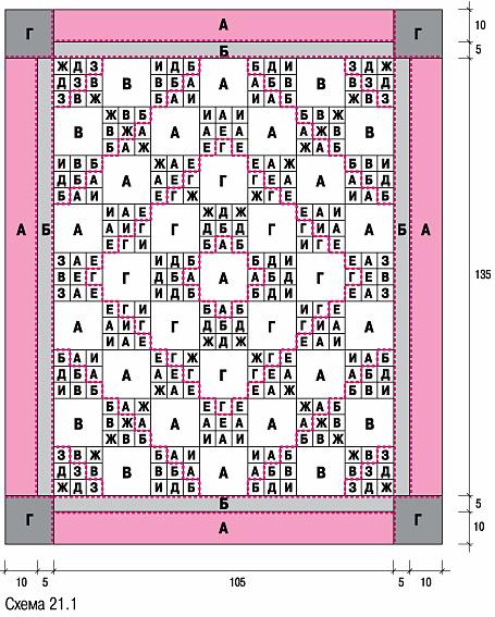 схема сборки лоскутного одеяла