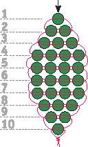 схема параллельного плетения бисером на проволоке