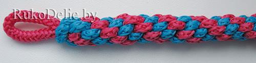 круглое плетение из 4-х шнуров