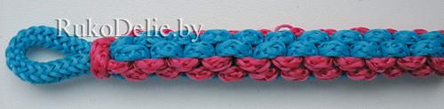 квадратное плетение из 4-х шнуров