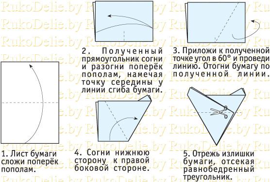 схема складывания листа бумаги