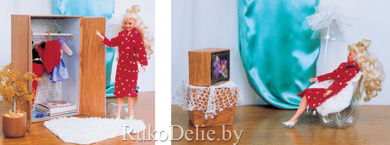 Как сделать мебель для кукол барби из картона своими руками