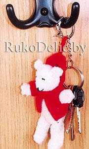 Мягкая игрушка-брелок ''Мишка в красном''