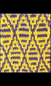 Ленивый узор вязания спицами