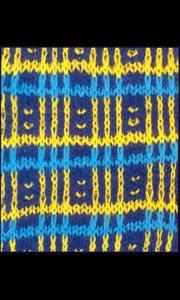 Многоцветный узор для вязания