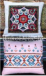 Вышивка крестом подушки геометрические