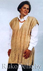 Вязание жилета спицами для начинающих