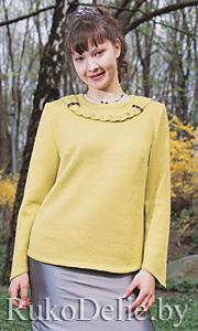 Пуловер, связаный на ручной вязальной машине