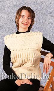 Вязание женской безрукавки на спицах