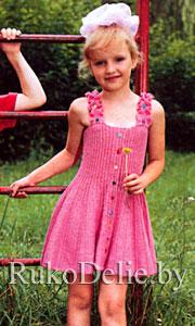 вышивкой для девочки вязаный спицами