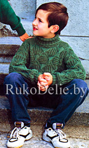 Вязание на спицах свитер для мальчика видео 48