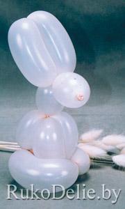 Зайчик, скрученный из воздушного шарика