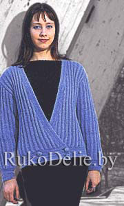 Knitted mohair jacket for everyday life