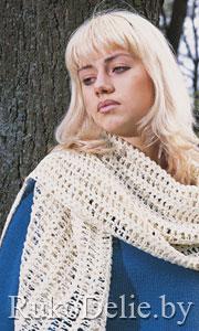 Схема ажурных шарфов спицами