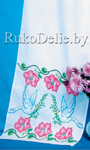 Вышивка схем голубей для рушников
