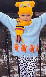 Детский пуловер для девочек