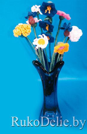 цветы, связаные крючком