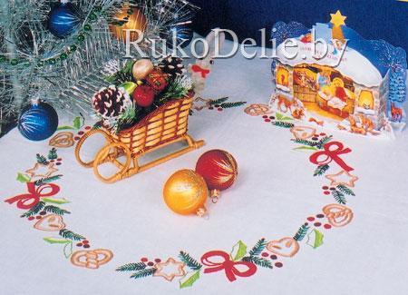 Скатерть с рождественским