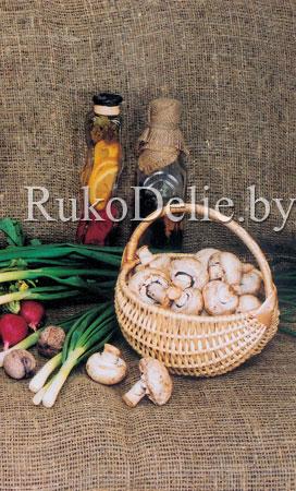 Белорусская корзина, сплетенная из лозы