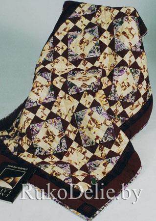 Одеяло из лоскутков своими руками схема