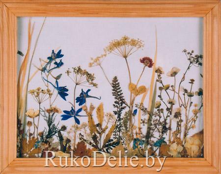 Картина из травы поделки