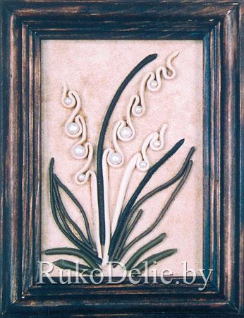 Цветы из кожи кКреативные Деревянное дорожКоробочка из