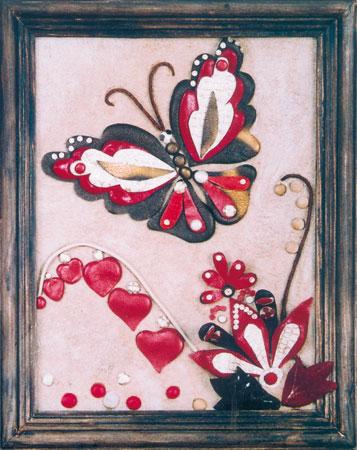 Панно картина из кожи бабочки мастер-класс.