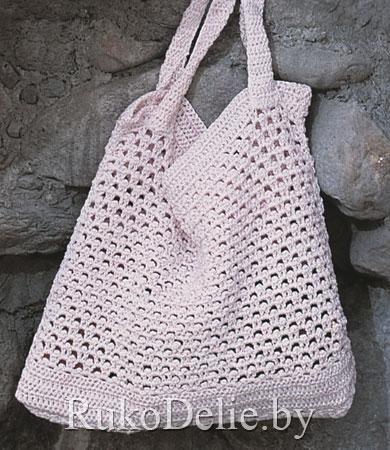Пляжная сумка, вязаная крючком