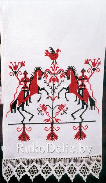 Вышивка крестом на вафельном полотенце схема