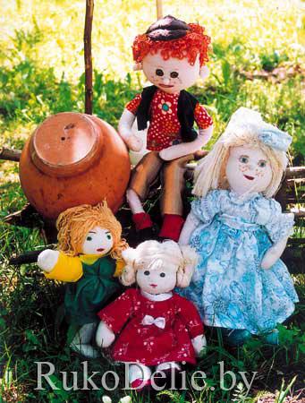 Шитые тряпичные куклы