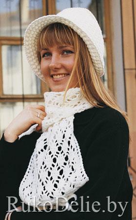 и шарф, вязаные крючком