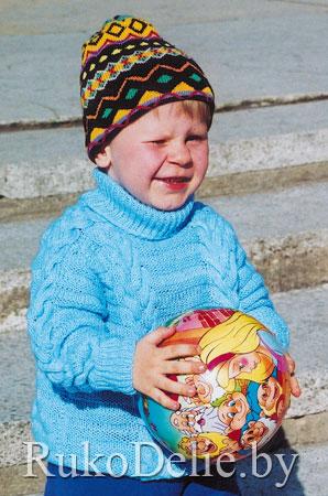 детский вязаный свитер схема.