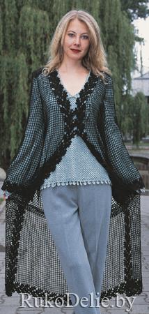 Пальто ажурное вязаное крючком схемы