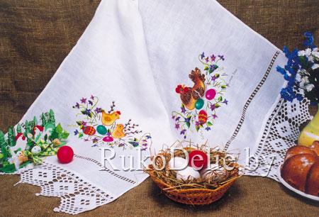 Пасхальный рушник с вышивкой