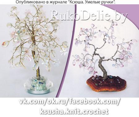 Снежное деревце из блестящих пайеток или бусин