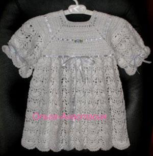 Крестильное платье :: Вязание крючком